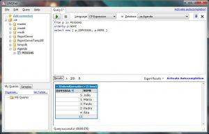 Exemplo de uso do LINQ no LINQPAD