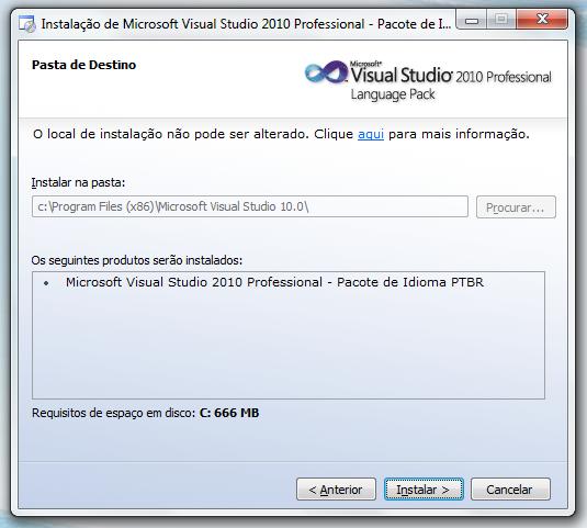 Alterando o idioma do Visual Studio 2010 para Português