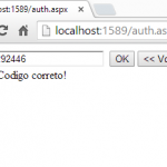 Teste do código gerado pelo Google Authenticator