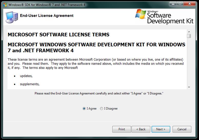 Imagem da Tela de informações sobre o termo da licença de uso