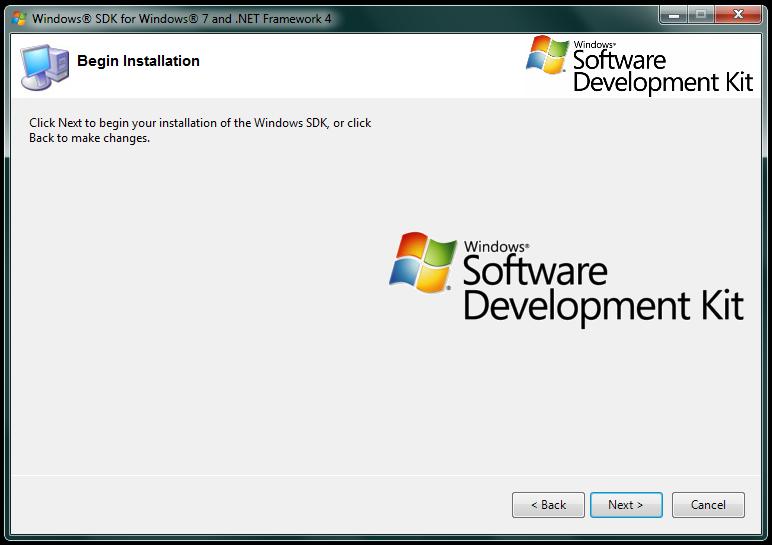Imagem da tela sobre o aviso de inicio da instalação do SDK