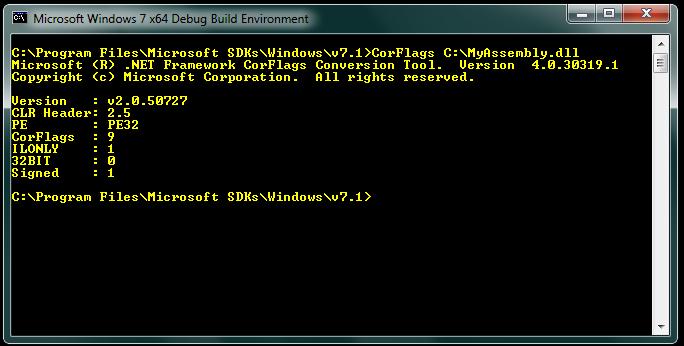 Imagem do prompt do SDK com a execução do comando citado