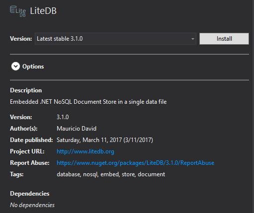 LiteDb - Nuget